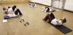 Fitness training class